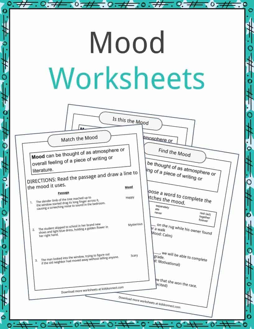Mood Examples, Definition and Worksheets | KidsKonnect