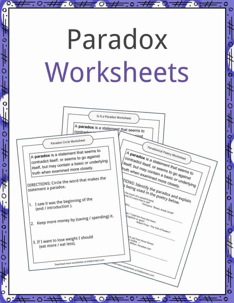 Paradox Examples, Definition and Worksheets | KidsKonnect