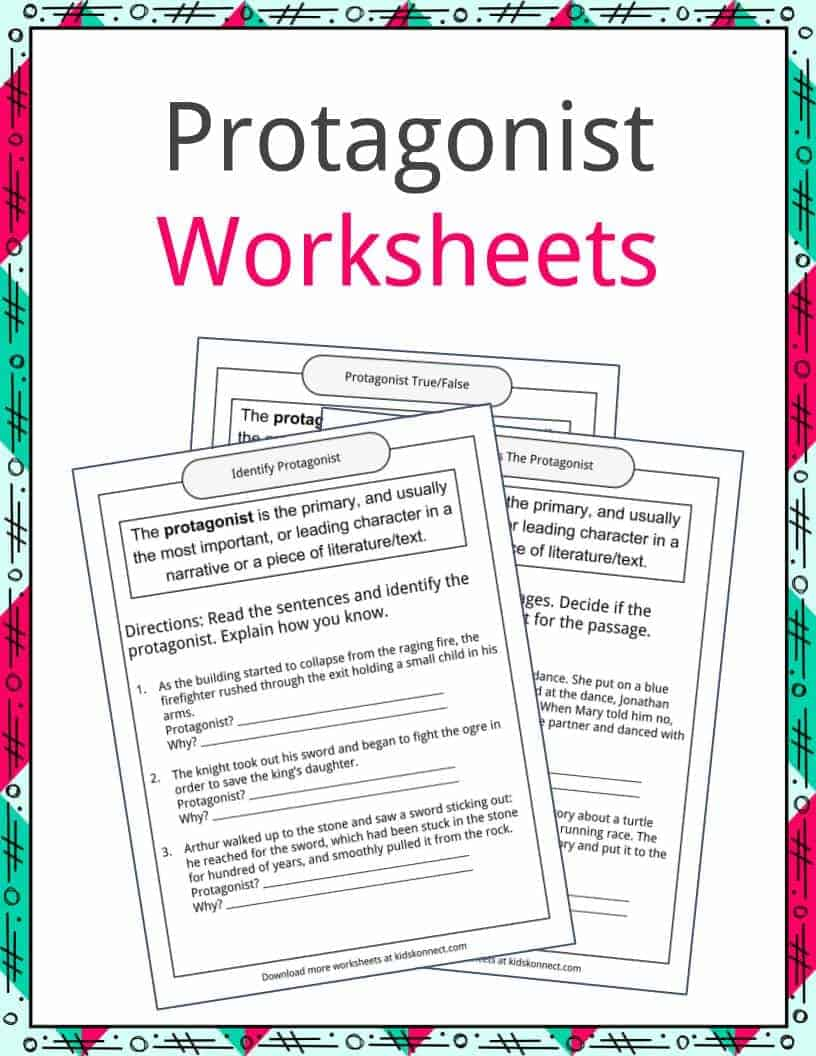 worksheet Protagonist And Antagonist Worksheet protagonist examples definition and worksheets kidskonnect download the worksheets