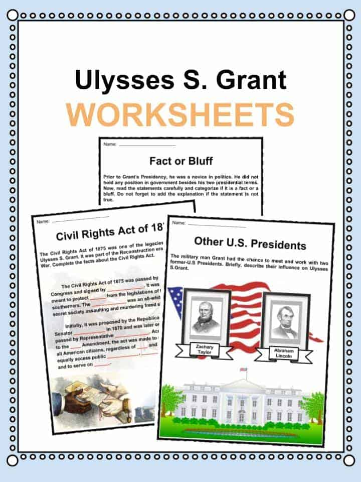 Ulysses S. Grant Worksheets