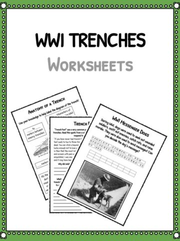 WWI's Trenches Worksheets