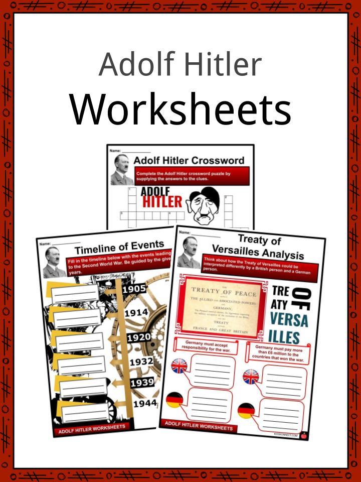 Adolf Hitler Worksheets