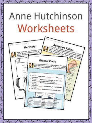 Anne Hutchinson Worksheets