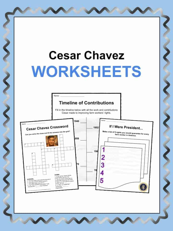 Cesar Chavez Worksheets