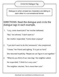 dialogue examples definition and worksheets kidskonnect. Black Bedroom Furniture Sets. Home Design Ideas