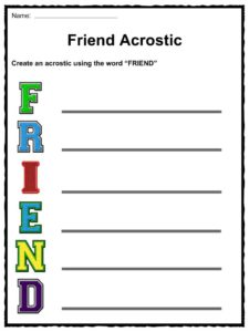 Friendship Day Facts, Worksheets & Information For Kids