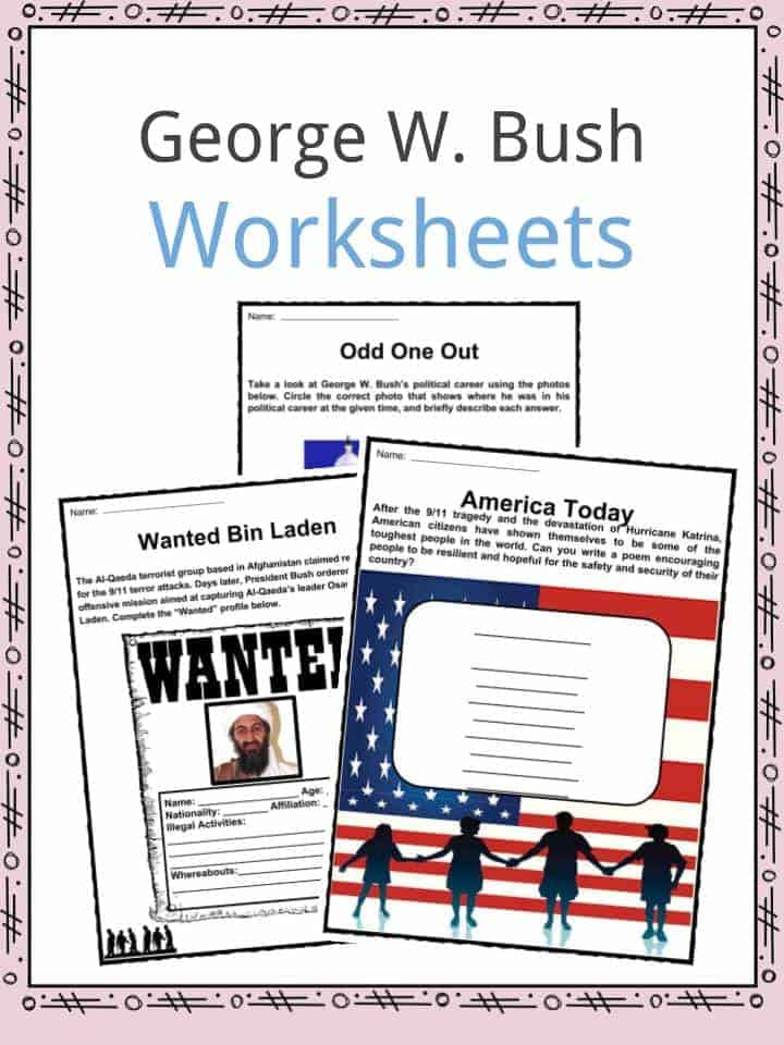 George W. Bush Worksheets
