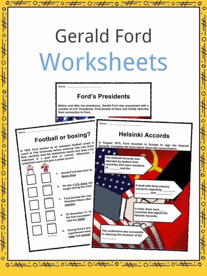Gerald Ford Worksheets