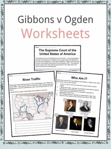 Gibbons v Ogden Worksheets