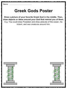 Greek Gods Facts, Worksheets \u0026 Ancient Myths For Kids Greek Gods And Goddesses Games Greek Gods Worksheet #20