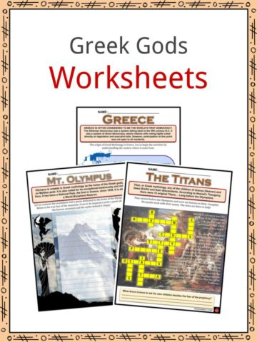 Greek Gods Worksheets
