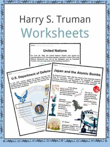 Harry S. Truman Worksheets