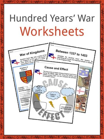 Hundred Years' War Worksheets