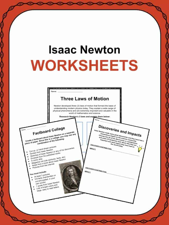 Isaac Newton Worksheets