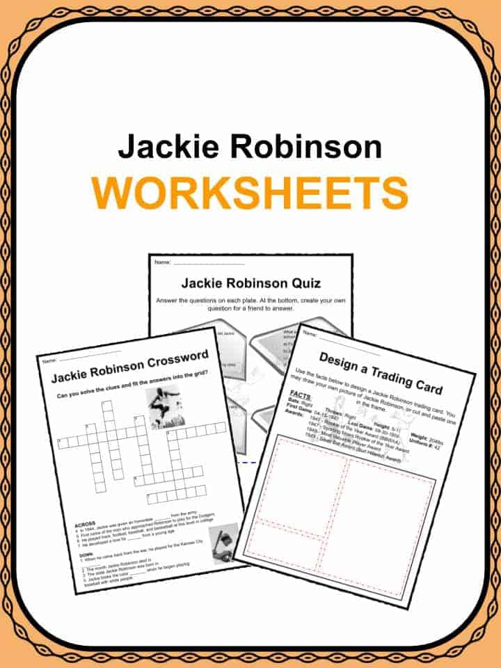 graphic about Black History Quiz Questions and Answers Printable referred to as Jackie Robinson Data Worksheets KidsKonnect