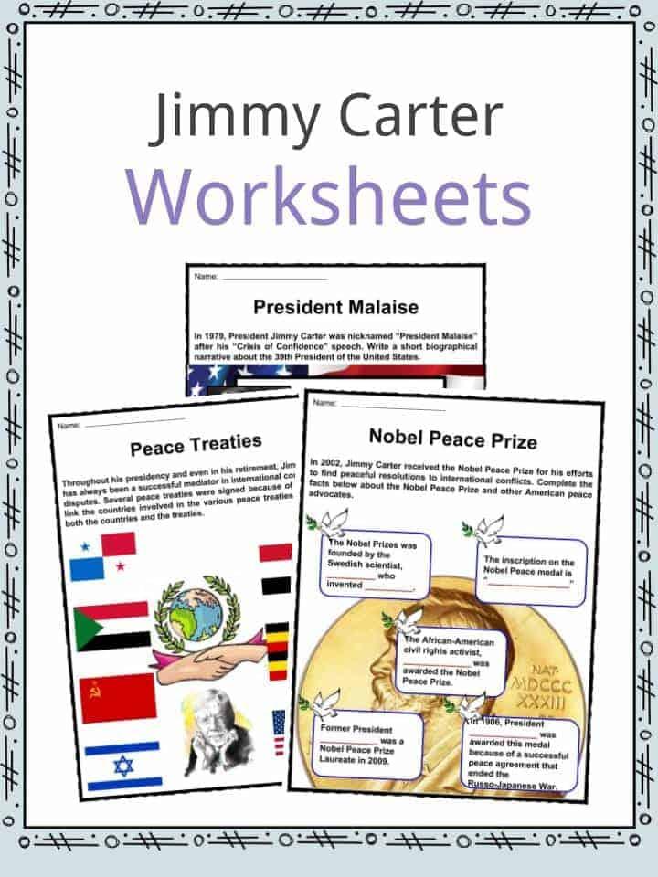 Jimmy Carter Worksheets