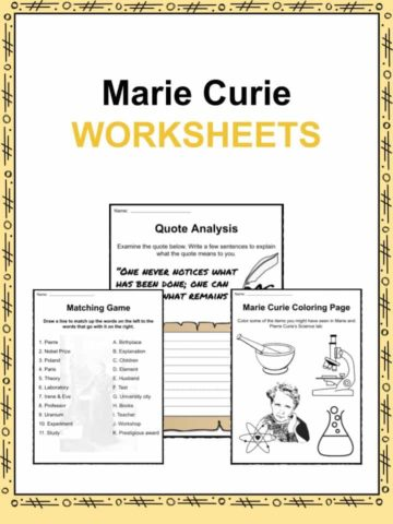 Marie Curie Worksheets