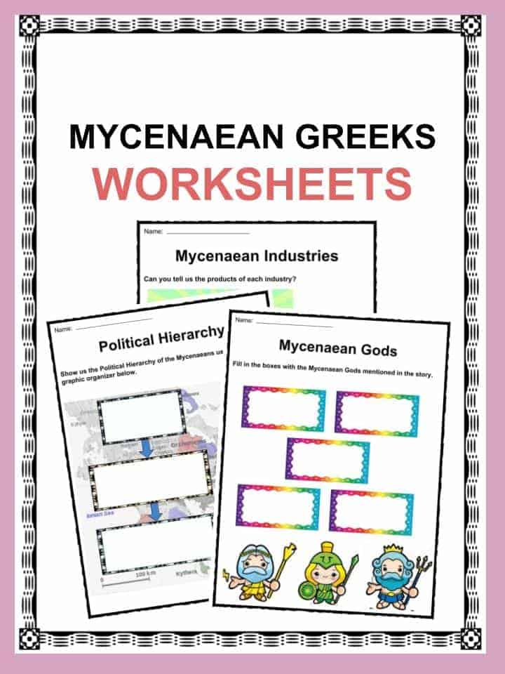 Printable Touch Math Worksheets Word History For Kids  History Worksheets And Facts  Kidskonnect Number And Shape Patterns Worksheets Pdf with Division 5th Grade Worksheet Pdf Mycenaean Greeks Facts  Worksheets Cell Cycle Worksheet