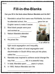It's just an image of Exceptional Nelson Mandela Worksheets