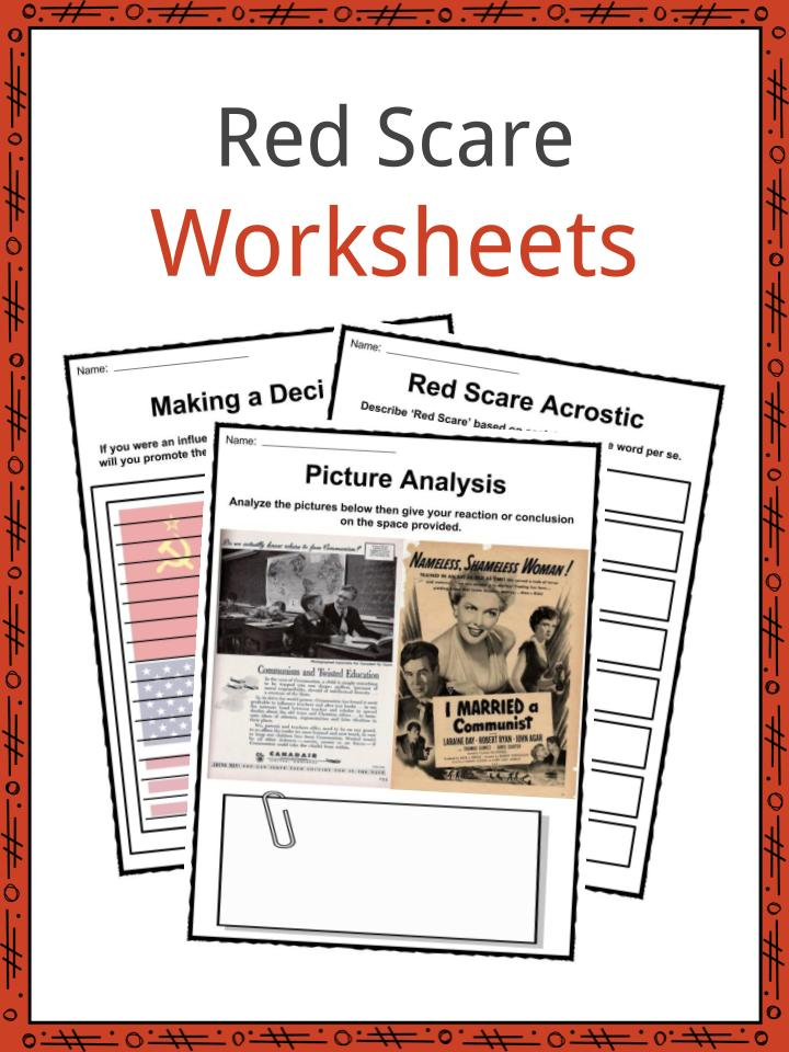 Red Scare Facts Worksheets Political Information For Kids