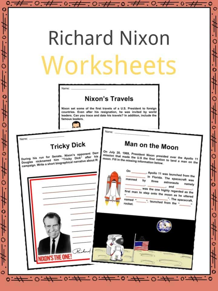Richard Nixon Worksheets