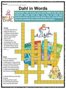 Roald Dahl Facts, Information and Worksheets | Teaching Resources
