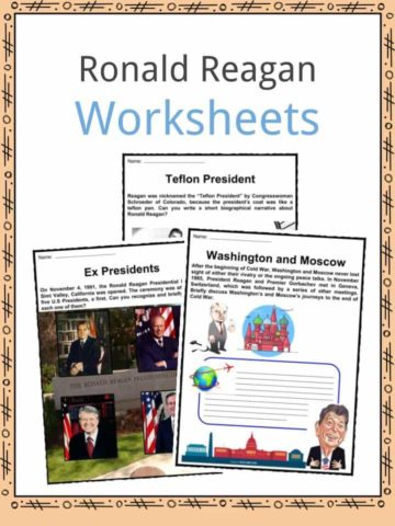 Ronald Reagan Worksheets