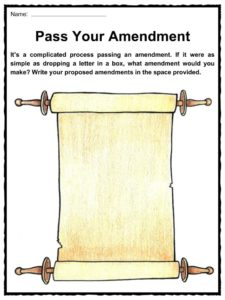 The United States Bill of Rights Facts & Worksheets For Kids
