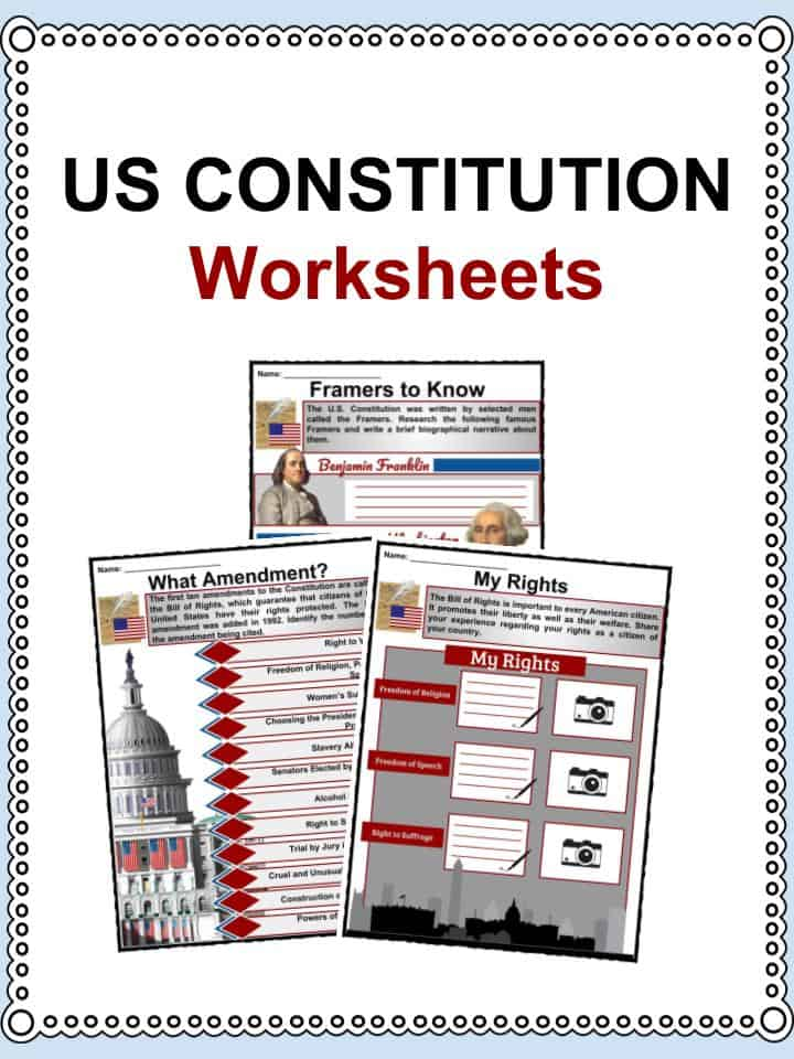 image regarding Printable United States Citizenship Test known as US Consution Information and facts Worksheets Coaching Products