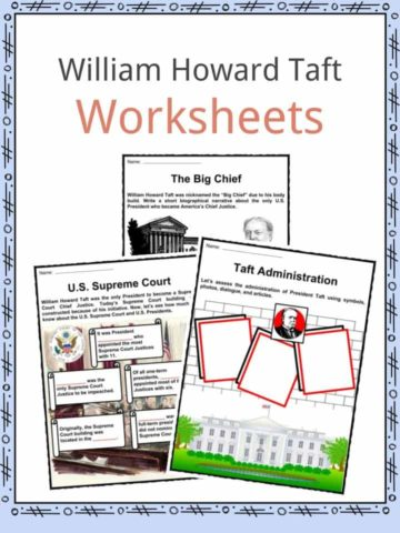 William Howard Taft Worksheets