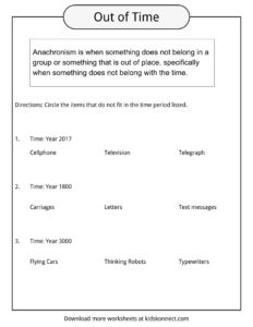 Anachronism Examples, Worksheets & Definition For Kids