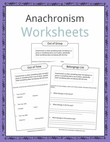 Anachronism Worksheets