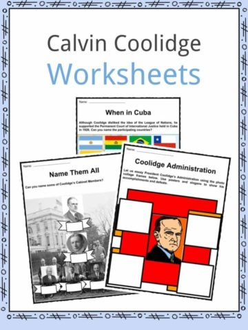 Calvin Coolidge Worksheets