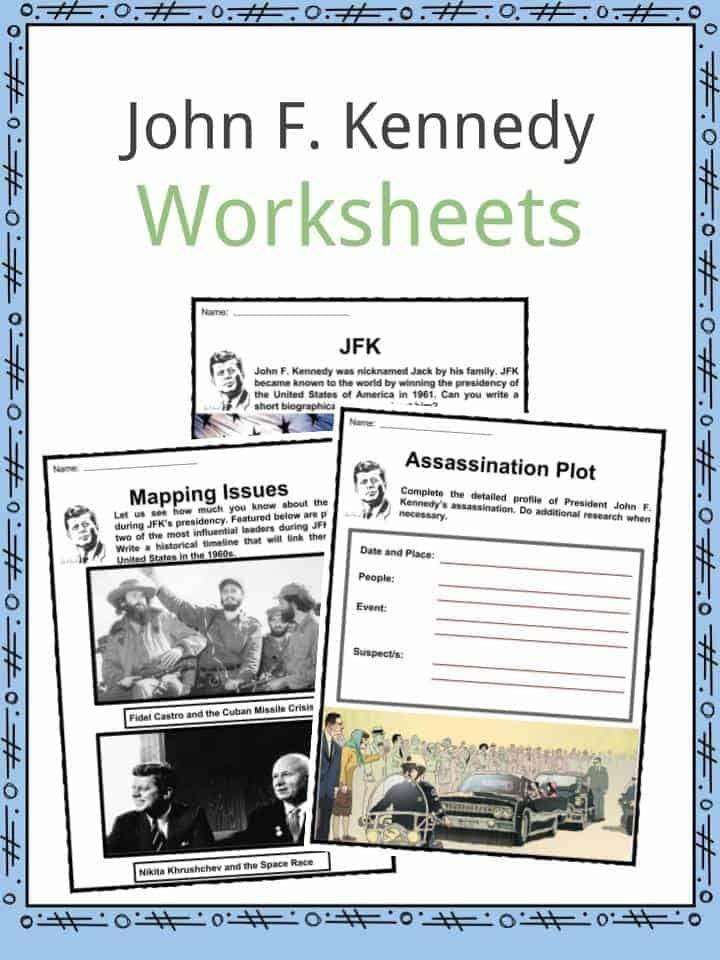 John F. Kennedy Worksheets