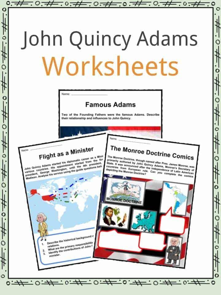 John Quincy Adams Worksheets