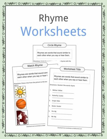 Rhyme Worksheets