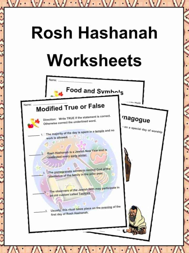 Printable Worksheets rosh hashanah worksheets : Rosh Hashanah Facts, Information & Worksheets For Kids