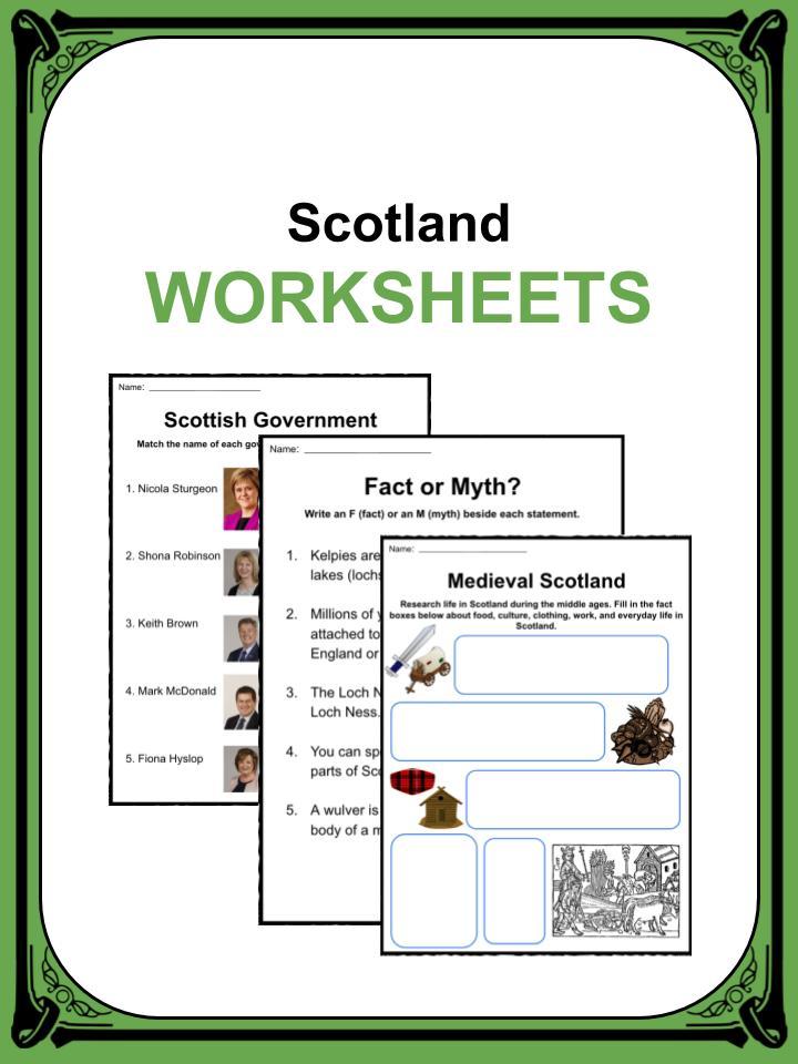 scotland facts  worksheets  u0026 information for kids