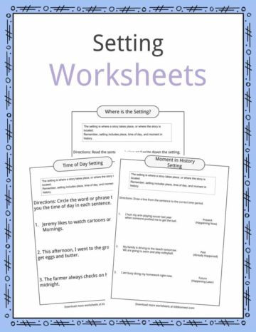 Setting Worksheets