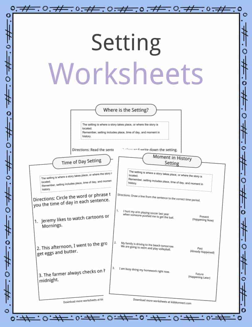 Story Setting Examples Definition Worksheets For Kids – Setting of a Story Worksheets