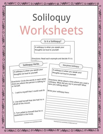 Soliloquy Worksheets