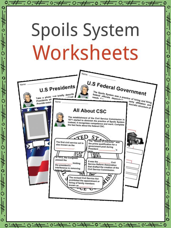 Spoils System Worksheets