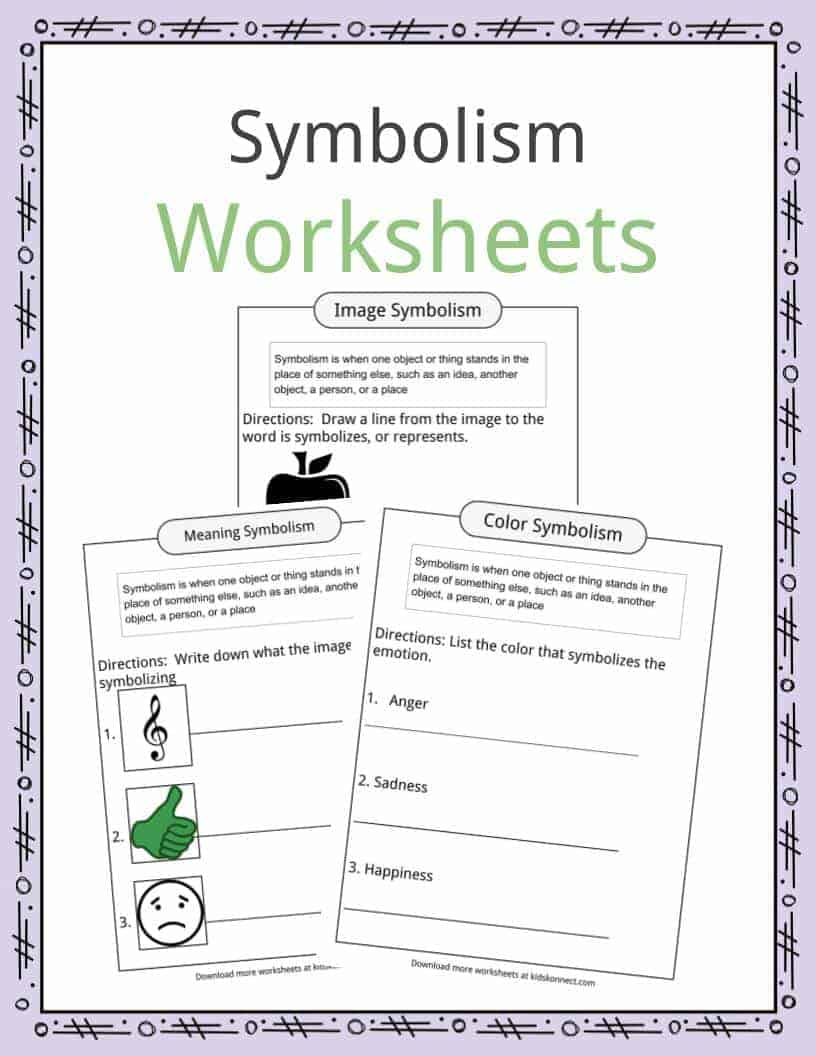 worksheet Teaching Symbolism In Literature Worksheets symbolism examples definition worksheets for kids download the worksheets