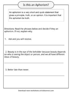 Anaphora Worksheet - The Best and Most Comprehensive Worksheets