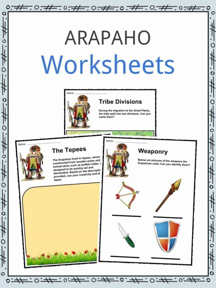 Arapaho Worksheets