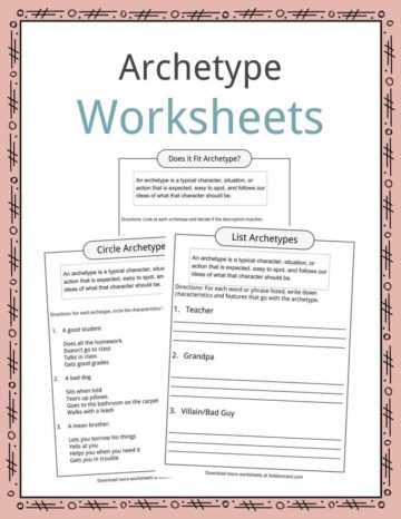 Archetype Worksheets