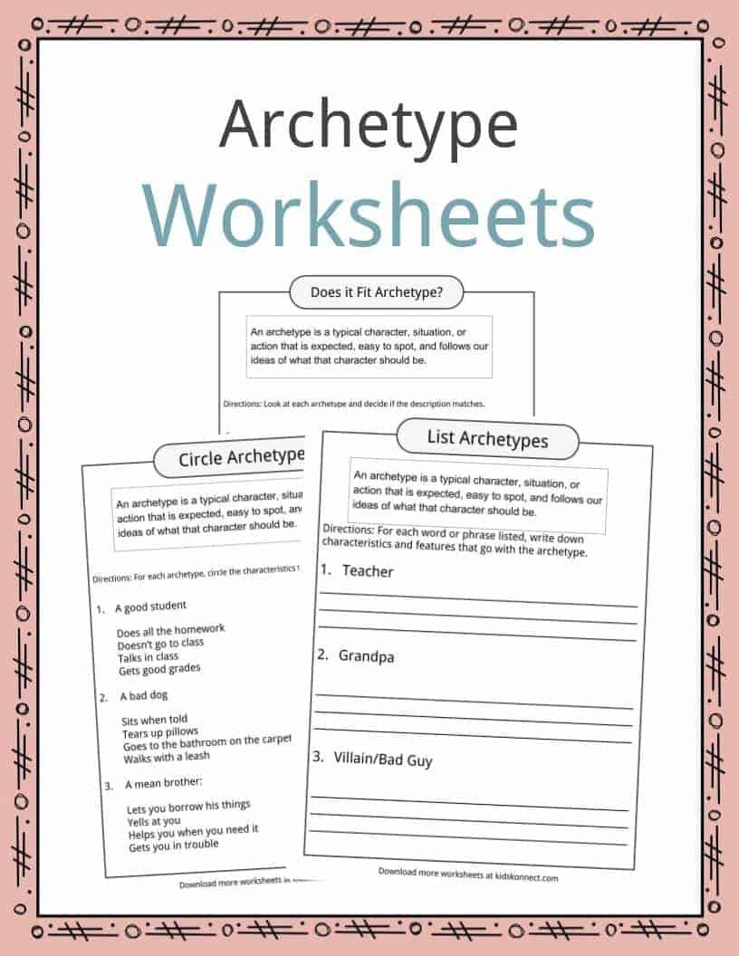 archetype definition worksheets examples for kids. Black Bedroom Furniture Sets. Home Design Ideas