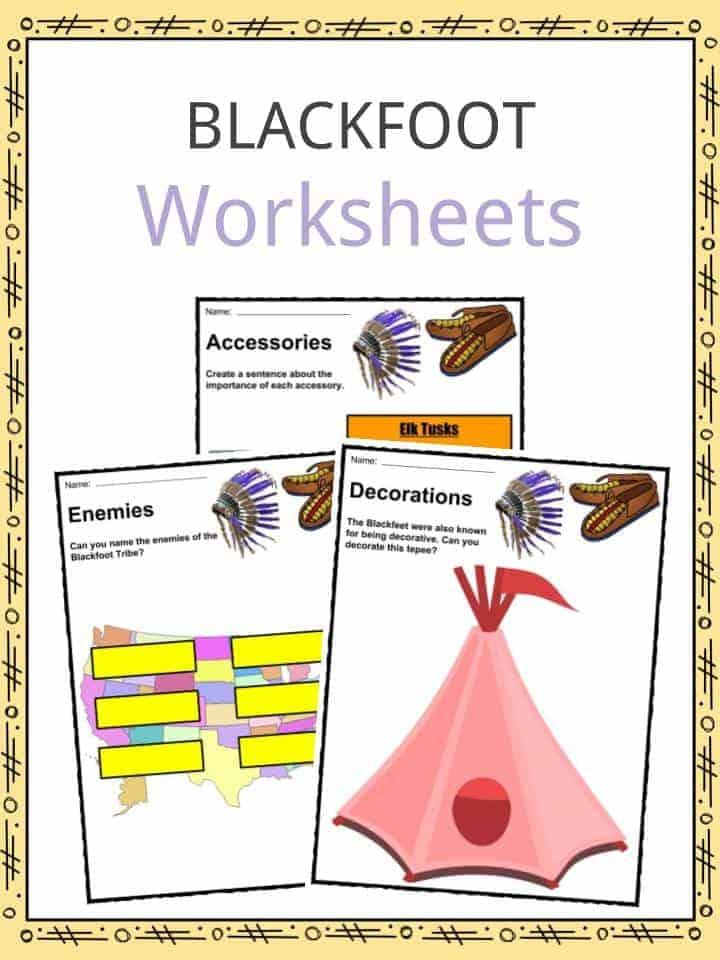 blackfoot indian tribe facts worksheets culture religion for kids. Black Bedroom Furniture Sets. Home Design Ideas