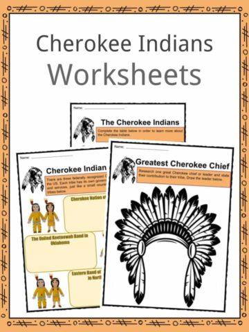 Cherokee Indians (Cherokees) Worksheets