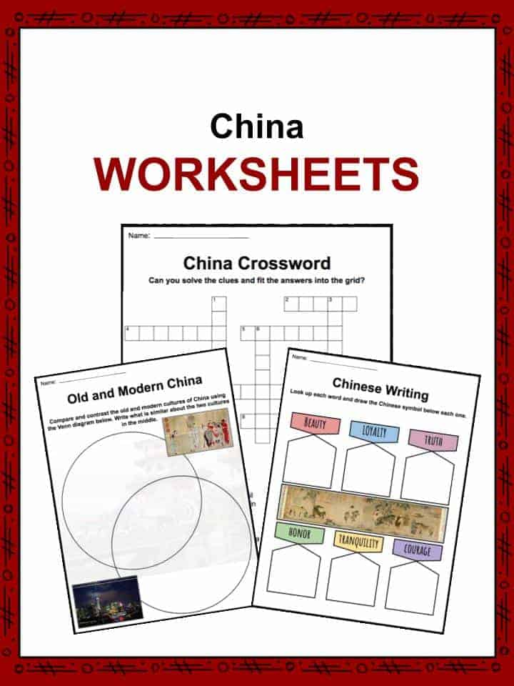 china facts worksheets economy culture history for kids. Black Bedroom Furniture Sets. Home Design Ideas